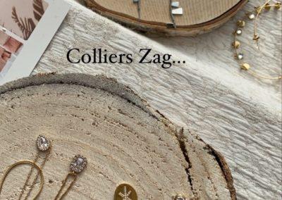 Collier Or/Argent Zag chez Melissa Beauté